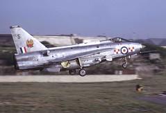 "BAC Lightning F.6 XS897 ""Sierra"" seen about to land at RAF Luqa, Malta, May 1973 (stcaamekid) Tags: firebirds lightningf6 englishelectric lightning 56squadron akrotiri bac luqa 1973 xs897"