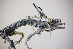 Sculpture from recycled metal Daemon 5 (Vortex67) Tags: art metal handmade wire sculpture recycled robot craft démon daemon monster montre