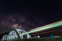 Ghost night train (www.davidfernandesphotographe.fr) Tags: night asie etoiles stars light trail ciel milkyway nuit fujifilm pont longexposure voyage chiangmai xt2 fujifilmxf1655mmf28lmwr nightshot thaïlande fujixt2 train fuji sky asia travel voielactée bridge thailand