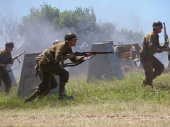 charge ahead (greatbigphotoparty) Tags: us army 36th infantry division reenactment wwii attack assault charge m1 garand
