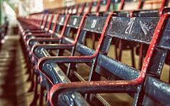 The oldest seats in baseball. (King Cow) Tags: 2014 baseball boston d600 fenwaypark massachusetts nikon nikond600 unitedstates bench dof explore explored seat sport