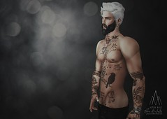 #463. I'll equalize you... (Gui Andretti) Tags: taketomi hair mesh male men man masculine avatar nx nardcotix david meshbody kunst speakeasy tattoo acessories limit8 kunstom9 uber second life kustom event digitalart sexy sensual