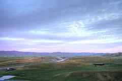 Dawn overlooking the California Aqueduct Vista Point (NeuroNeuroNeuro) Tags: vista point aqueduct california i5 sony canon 16mm sigma mc11 hdr handheld dawn valley a7rii farmland