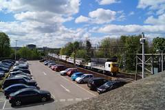 98006 98013 (tombrown3189) Tags: 98006 98013 network rail wiring train northampton sunshine track machine sky bluesky clouds
