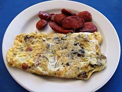 Omelet and Chorizo (knightbefore_99) Tags: rincon guayabitos mexico mexican tasty egg omelet chorizo sausage spicy nayarit decameron hotel desayuno breakfast best art