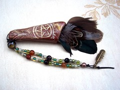smudge fan brown 1 (ClandestineArt) Tags: feathers ceremony pagan smudging smudgefan ritualfan