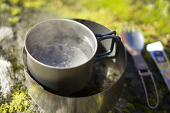 Boiling time 6:00 min (HendrikMorkel) Tags: outdoors gear titanium stoves esbit