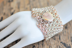Sterling Silver & Copper Helm chainmail button cuff with Imperial Jasper (Random Life Project) Tags: jewelry bracelet copper cuff helm chainmail sterlingsilver imperialjasper buttoncuff magmgpproject magmgp