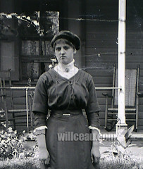 Lady in the Yard - detail (willceau) Tags: blackandwhite analog newjersey antique 1900 1910 glassnegative westville johnbcapewell