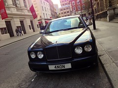 Twat. (DG Jones) Tags: london car idiot martin coventgarden anonymous twat royaloperahouse imbecile anon aston centrallondon conspicuousconsumption ostentatious rollroyce 4non