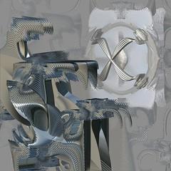 Metallic study (vivienrk) Tags: metal digital fractal incendia