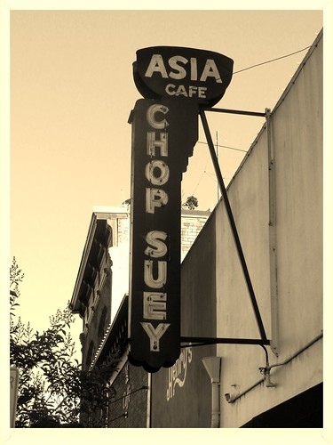 "Asia Cafe ""Chop Suey"" sign in downtown Napa CA 06-15-13"