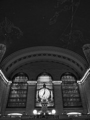 Grand Central Station (John H McCarthy) Tags: city nyc blackandwhite bw usa newyork clock america 28mm ricoh grd grd4