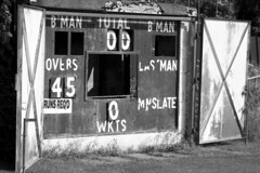 bwscoreboard (Nightshadow_Manchester) Tags: cricket scoreboard greyscale hollinwood