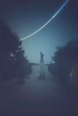 (RealitySoSubtle) Tags: blue paris tower paper long exposure tour eiffel pinhole ilford matchbox boite solargraphy mgiv dallumettes solargraph solargraphie
