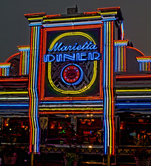 Marietta Diner (Mark Chandler Photography) Tags: color colour colors night canon ga georgia photography photo neon colours diner 7d marietta markchandler