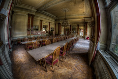 the great hall (WolfiNim) Tags: old urban abandoned dark lost hotel nikon decay exploring fisheye forgotten urbanexploration unknown forsaken exploration 8mm mapping walimex hdr ue mapped urbex marode d90 lostplace tonemapped tonemapping wolfinim