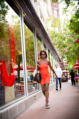 2013 08 17 - 3007 - DC - E St NW (thisisbossi) Tags: orange usa washingtondc dc women nw unitedstates northwest dresses pedestrians candids sidewalks pennquarter estreet ward2