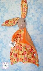 Bunny Blanket (Polar Bear Creations Dolls) Tags: bunny cozy natural handmade plush babyshower hase blanky lovey softtoy babytoy childfriendly schmusetuch naturaltoy polarbearcreations schmusehase hasehaeschen