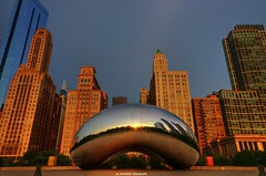 sunrise reflections (Rex Montalban Photography) Tags: chicago sunrise reflections cloudgate thebean hdr rexmontalbanphotography