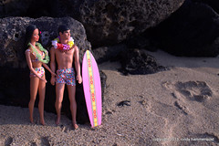 Superstar Hawaiian Barbie in Hawaii (FabCityCindy) Tags: kauaibeach beachbarbie superstarbarbie 16diorama superstarken hawaiianken hawaiibarbie cindyhammerquist fabcitytoys hawaiianbarbieken 16barbie