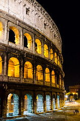 Colossal (9bladed) Tags: people italy rome stone night ruins roman lazio thecolosseum odop