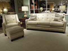 New style this fall (Brian's Furniture) Tags: new usa fall leather set this chair seat style sofa fabric springs frame matching ottoman tufted custom build cushions 203 option warranty nailhead lifetime 81l 36h 38d buttonless
