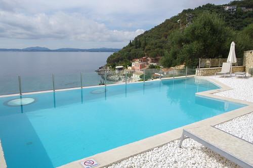 pool, village