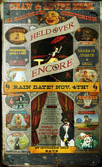 The Encore Handbill of '12 (crowolf) Tags: fiction poster claire twins kate circus katie sandy katherine freak tightrope katarina sideshow encore freaks 2012 tomfoolery handbill loupe freakshow gaff craw fauxvintage ballyhoo strangevintagefictions crowolf crawandloupebrotherscombinedshows crowolfiantomfoolery crowolfian raindate crawandloupebrosallhallowseveodditorium