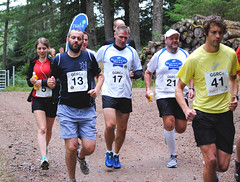 The runners take off from Clunes on their forest and lochside trail. Photo courtesy of Karen Carruth, The Scottish Farmer