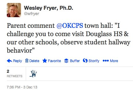 Parent Challenge at Tonight's OKCPS Comm by Wesley Fryer, on Flickr