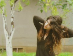 IMG_5786 (L'instant c'est moi) Tags: autumn trees nature girl face garden dark hair dress details longhair sensual decadence spleen melancholie angusty