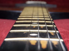 Four string guitar (Droogl) Tags: guitar worn fretboard fourstring
