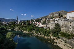 Mostar (patiigraphy) Tags: old city trip blue summer sun church water architecture buildings river temple town holidays day pentax mostar sunny mosque clear balkans oldtown oldcity neretva patii bosniaandherzegovina pentaxk5 ringexcellence patiigraphy