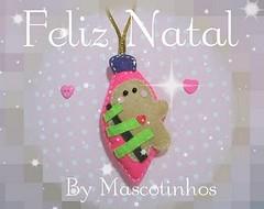 Desejos... (Mascotinhos em Feltro) Tags: christmas natal gingerbread felt feltro decorao christmasfelt enfeitesdervore