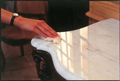 manchas en el marmol