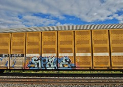 SPACE (YardJock) Tags: graffiti space spraypaint boxcar hopper bmc freighttrain itd autorack benching