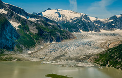 Taku Inlet Glacier and River 2 (ExposuresToNature) Tags: blue mountains green nature river outdoors day ak glacier clear taku 2013