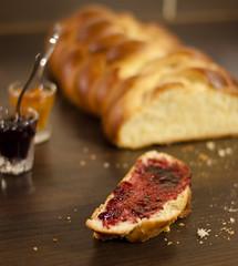 """""""La bonne brioche"""" (HugoSeri) Tags: 6 bread pain tresse raspberry jam six brioche framboise confiture"""