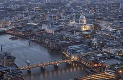 London from above (david.bank (www.david-bank.com)) Tags: city uk england urban london thames architecture river twilight cathedral dusk stpau