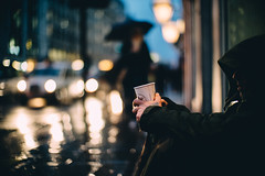 Rainy London. (Crusade.) Tags: street leica uk people london sony f1 noctilux a7r