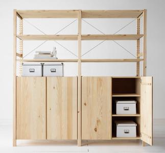 IKEA IVAR Shelf-Cabinet Combo