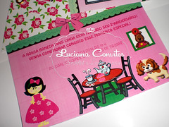 Convite Casa de Boneca (LUCIANA CONVITES E LEMBRANÇAS) Tags: infantil boneca convite festa aniversário casadeboneca chádeboneca