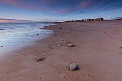 Blyth Beach (Callaghan69) Tags: uk morning seascape beach sunrise landscape dawn coast sand nikon northumberland northsea beachhuts blyth cokin northeastengland northumbrian blythbeach cokingndfilter tokina1116 wildaboutnorthumberland nikond7100