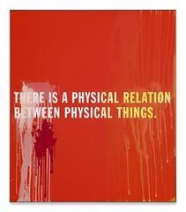 THERE IS A PHYSICAL RELATION BETWEEN PHYSICAL THINGS  , 2014. Madera, pintura acrílica, marco de aluminio. 180 x 156 cm. Cortesía Thomas Locher.