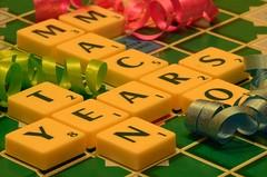 Macro Mondays - Happy 10 Years! (Explored 21-3-2017) (frankvanroon) Tags: macromondays happy10years macro confetti party 10 ten scrabble text celebration nikon d7000 sigma105mm mm hmm hbmm