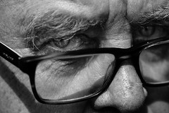 The bad (Giulio Magnifico) Tags: nikond800e nikkormicro105mmafsvrf28 macro detail eye eyes gaze blackwhite portrait closeup man powerful look soulful soul udine glasses