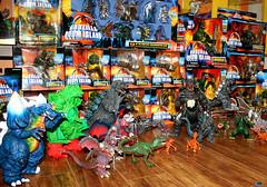 TRENDMASTERS Godzilla Doom Island Full Collection (TRENDMASTERS) Tags: trendmasters godzilla doom island dinosaur ghidorah megamutation destroyah destoroyah trex stegosaurus mechagodzilla mecha king jonathan shyman