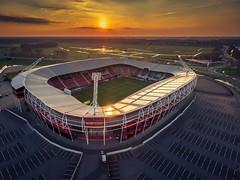 Soccer Stadium Alkmaar (mcalma68) Tags: alkmaar az stadium soccer football sunset aerial drone hdr afas stadion