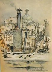 Anton Pieck- Bemin dan Amsterdam, 1948 ill ronde lutherse kerk (janwillemsen) Tags: antonpieck amsterdam bookillustration 19451948
